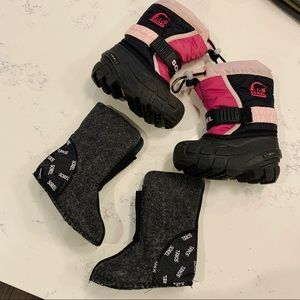 SOREL | Kids Slip On Snow Winter Boots W/ Liner